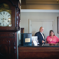 Luray, VA - General Manager Jim Simms and staff at the Mimslyn Inn.