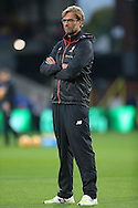 Jurgen Klopp, the Liverpool manager looking on during pre match warm up. Premier League match, Crystal Palace v Liverpool at Selhurst Park in London on Saturday 29th October 2016.<br /> pic by John Patrick Fletcher, Andrew Orchard sports photography.