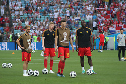 June 18, 2018 - Sochi, Russia - June 18, 2018, Russia, Sochi, FIFA World Cup 2018, First round, Group G, First round, Belgium vs Panama at Fisch Stadium. Belgium - Panama. Player of the national team Thomas Meunier. (Credit Image: © Russian Look via ZUMA Wire)