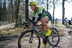 Alison Tetrick battles the cobbles on Dalakersweg - Ronde van Drenthe 2016, a 138km road race starting and finishing in Hoogeveen, on March 12, 2016 in Drenthe, Netherlands.