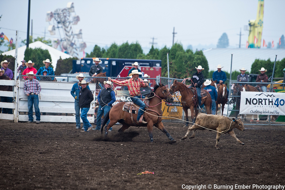 Kass Kayser in the Tie Down event at the Gem State Stampede August 26th, 2018 slack in Couer D'Alene ID.  Photo by Josh Homer/Burning Ember Photography.  Photo credit must be given on all uses.