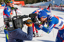 Cameraman and Sabastian Eisnlaier (FRA) during the Man team sprint race at FIS Cross Country World Cup Planica 2016, on January 17, 2016 at Planica, Slovenia. Photo By Urban Urbanc / Sportida