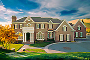 Architectural exterior of luxury home