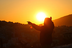 December 7, 2047 - Athens, Greece - Sun rising in Athens, Greece, on May 3, 2019. (Credit Image: © Grigoris Siamidis/NurPhoto via ZUMA Press)
