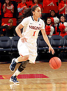 CHARLOTTESVILLE, VA- December 1: China Crosby #1 of the Virginia Cavaliers handles the ball during the game against the Indiana Hoosiers on December 1, 2011 at the John Paul Jones Arena in Charlottesville, Virginia. Virginia defeated Indiana 65-49. (Photo by Andrew Shurtleff/Getty Images) *** Local Caption *** China Crosby