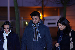 © under license to London News Pictures.  23/03/14 Shrien Dewani who's accused of arranging wife's honeymoon murder to be extradited from UK to South Africa on 7th Apr & to appear in court next day. FILE PICTURED DATED: 24/02/11 Shrien Dewani leaves court with his sisters after an extradition hearing at Belmarsh Court. South African courts are seeking his extradition where he is alleged to have paid hit men to murder his wife. Photo credit should read: Olivia Harris/ London News Pictures