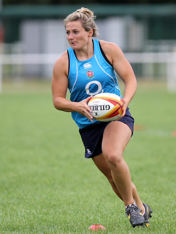 WRWC England training at Stade Montelievres, Saintry, France, on 3rd August 2014