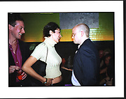Ghislaine Maxwell, Toby Young, Plum and Lucy Sykes birthday. Manhattan. 1999