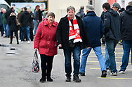 Swindon fans arriving at The County Ground the EFL Sky Bet League 2 match between Swindon Town and Yeovil Town at the County Ground, Swindon, England on 10 April 2018. Picture by Graham Hunt.