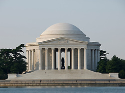 Washington DC; USA: The Thomas Jefferson Memorial, with his statue in a rotunda at the Tidal Basin.Photo copyright Lee Foster Photo # 6-washdc82692