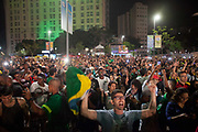 Thousands of Brazilians and some foreigners watched the Brazil vs Germany Olympic football final match in Praca Maua, on the Olympic boulevard, Rio de Janeiro, celebrating Brazis victory, in what could be regarded as a revenge match after Germany beat them 7-1 in the same Maracana Stadium in 2014.