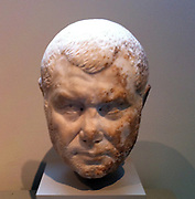 marble portrait of a man Roman mid 3rd century AD. Possibly a portrait of Emperor Balbinus reigned during 238 AD