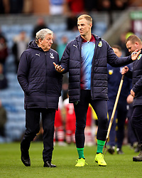 Crystal Palace manager Roy Hodgson (left) and Burnley goalkeeper Joe Hart before the Premier League match at Turf Moor, Burnley.