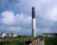 AA05900-01...NORTH CAROLINA - Oak Island Lighthouse on Long Bay near the mouth of the Cape Fear River.