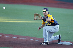 08 July 2017: John Montgomery during a Frontier League Baseball game between the Traverse City Beach Bums and the Normal CornBelters at Corn Crib Stadium on the campus of Heartland Community College in Normal Illinois