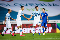Amedej Vetrih of Slovenia with Haris Vuckic of Slovenia during football match between National Teams of Slovenia and Greece in UEFA Nations League 2020, on September 3, 2020 in SRC Stozice, Ljubljana, Slovenia. Photo by Grega Valancic / Sportida