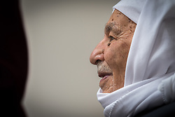 15 March 2019, Ma'alul: Ma'alul, a Palestinian village destroyed in the 1948 Arab-Israeli war, sees a visit by ecumenical accompaniers from the World Council of Churches Ecumenical Accompaniment Programme in Palestine and Israel. 95-year-old Salem is one of few remaining survivors from the 75 families who used to live in the village back in 1948.