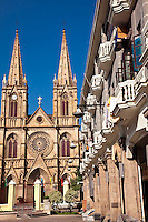 The beautiful classic architecture of the stone Cathedral of the Sacred Heart in Guangzhou.
