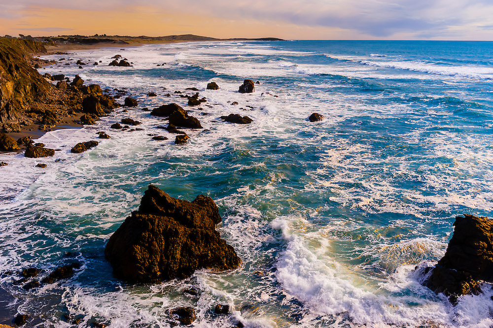 Coleman Beach on Highway 1 in Sonoma County, California USA