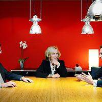 Nederland, Amsterdam , 13 december 2010..Raad van Bestuur van GGZinGeest en VUmc v.l.n.r. Aartjan Beekman, Joke van Lonkhuijzen, Thijs Stoop.Foto:Jean-Pierre Jans