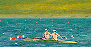 Munich, GERMANY,  USA W2- Bow. Suzsanna FRANCIA and Anna GOODALE. FISA World Cup at the Munich Olympic Rowing Course, Thur's.  09/05/2008  [Mandatory Credit Peter Spurrier/ Intersport Images] Rowing Course, Olympic Regatta Rowing Course, Munich, GERMANY
