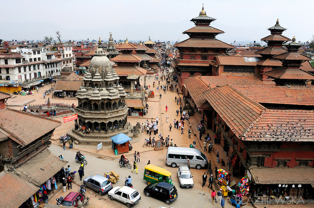 Nepal, Patan. Streets in the centre of Patan - one of the most beautiful places in Kathmandu Valley.