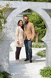 EVGENY LEBEDEV and KAMELIA BIN ZAAL at the 2015 RHS Chelsea Flower Show at the Royal Hospital Chelsea, London on 18th May 2015.