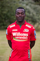 20150626 - OOSTENDE, BELGIUM: Oostende's Yannick Loemba pictured during the 2015-2016 season photo shoot of Belgian first league soccer team KV Oostende, Friday 26 June 2015 in Oostende. BELGA PHOTO KURT DESPLENTER