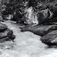 """""""Flow of Life""""<br /> <br /> Beautiful black and white landscape with a flowing river."""