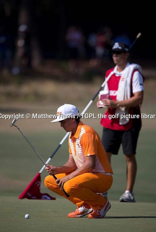 Rickie FOWLER (USA) during fourth round US Open Championship 2014,Pinehurst No 2,Pinehurst,North Carolina,USA.