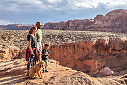 A day in the life of a family camping in RV in Moab, Utah.