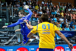 Miha Zarabec of Celje during handball match between RK Celje Pivovarna Lasko and RD Koper 2013 of Super Cup 2016, on August 27, 2016 in SRC Marina, Portoroz / Portorose, Slovenia. Photo by Matic Klansek Velej / Sportida