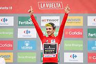 Simon Yates (GBR - Mitchelton - Scott) Podium during the 73th Edition of the 2018 Tour of Spain, Vuelta Espana 2018, 20th stage Andorra Escaldes Engordany - Coll de la Gallina 97.3 km on September 15, 2018 in Spain - Photo Luca Bettini / BettiniPhoto / ProSportsImages / DPPI
