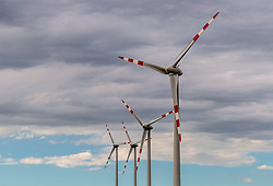 THEMENBILD - Windräder des Energieversorgers EVN in einem Windpark zur Stromerzeugung, aufgenommen am 7. Juni 2017, Rottersdorf, Oesterreich // Wind turbines from the Austrian-based producer and transporter of electricity, EVN operate in a wind farm at Rottersdorf, Austria on 2017/06/07. EXPA Pictures © 2017, PhotoCredit: EXPA/ JFK