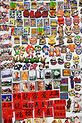 Souvenir fridge magnets for sale in Yu Garden Bazaar Market, Shanghai, China