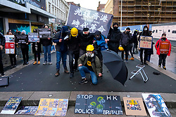 Glasgow, Scotland, UK. 19 January, 2020. Hong Kong students and Amnesty International stage a pro-democracy protest on Sauchiehall Street in Glasgow city centre. The protest was one of several in cities worldwide to protest against the anti-democratic policies of the Chinese Communist Party. Iain Masterton/Alamy Live News.