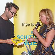 NLD/Amsterdam/20151005 - Boekpresentatie Een schitterend Ongeluk van Inge Ipenburg, Inge met Jan Kooijman