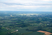 Aerial photograph of Watertown, Wisconsin on a beautiful summer day.