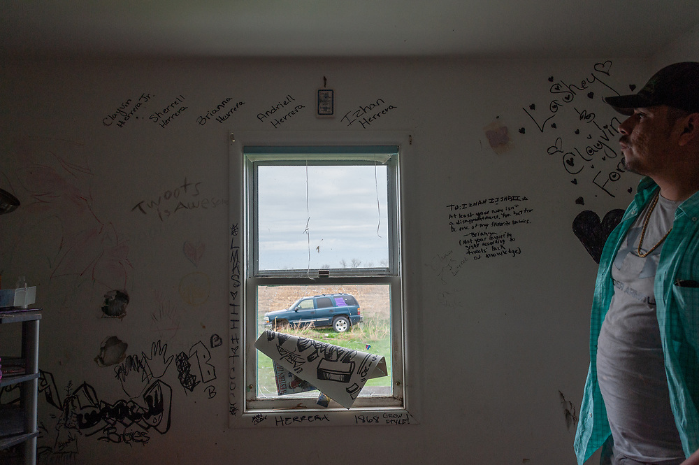Clayvin Herrera's abandoned home in St. Xavier, Montana, on the Crow Reservation.