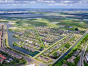 Nederland,Zuid-Holland, Rotterdam; 14–05-2020; stadsdeel Prins Alexander, Vinex-wijk Nesselande. Waterwijk met zelfbouwkavels waarop naar eigen ontwerp en welstandsvrij een woning kan worden gebouwd.  Eendragtspolder met Willem-Alexander roeibaan in de achtergrond.<br /> Prince Alexander district, Nesselande neighborhood. Waterwijk with self-build plots .<br /> <br /> luchtfoto (toeslag op standaard tarieven);<br /> aerial photo (additional fee required)<br /> copyright © 2020 foto/photo Siebe Swart