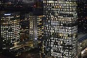 Nederland, Amsterdam, 28-1-2013Serie beelden van de zuidas en rondweg a10 vanuit een hoge lokatie, het anb-amro gebouw. WTC, world trade center en hoofdkantoor Akzo nobelFoto: Flip Franssen/Hollandse Hoogte