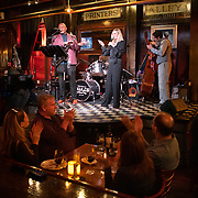 Laura Mayo performs with the jazz band at Skulls Rainbow Room in Printers Alley in downtown Nashville, Tennessee. Nathan Lambrecht/Journal Communications