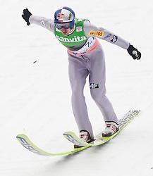 19.03.2011, Planica, Kranjska Gora, SLO, FIS World Cup Finale, Ski Nordisch, Skiflug Teambewerb, im Bild Adam Malaysz (POL) // Adam Malaysz (POL) during team event of the Ski Jumping World Cup finals in Planica, Slovenia, 19/3/2011. EXPA Pictures © 2011, PhotoCredit: EXPA/ J. Groder