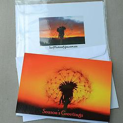 Seasons Greeting Dandelion Card
