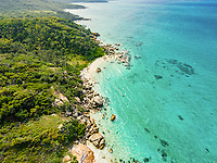 Aerial view of Lizard Island, Great Barrier Reef, Queensland, Australia