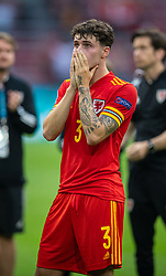 AMSTERDAM, THE NETHERLANDS - Saturday, June 26, 2021: Wales' Neco Williams looks dejected after the UEFA Euro 2020 Round of 16 match between Wales and Denmark at the  Amsterdam Arena. Denmark won 4-0. (Photo by David Rawcliffe/Propaganda)