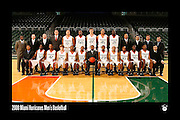 2008 Miami Hurricanes Men's Basketball Team Photo
