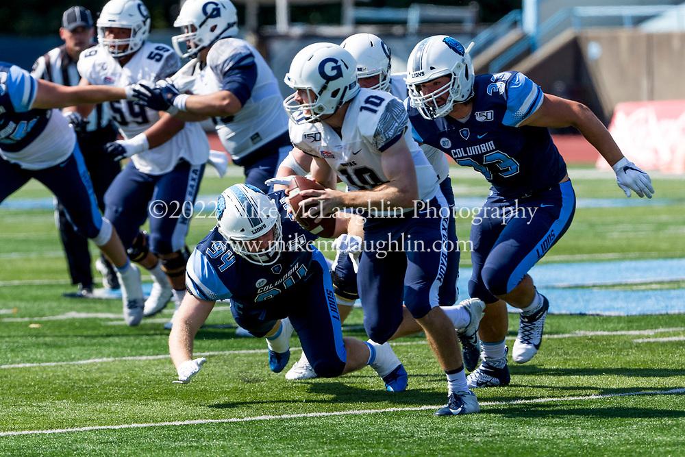 September 28, 2019 New York, NY<br /> Columbia University football v. Georgetown.<br /> 2019 Mike McLaughlin<br /> https://mclaughlin.photoshelter.com/<br /> Mike McLaughlin