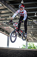 #213 (LOCATELLI Quentin) FRA at Round 5 of the 2019 UCI BMX Supercross World Cup in Saint-Quentin-En-Yvelines, France
