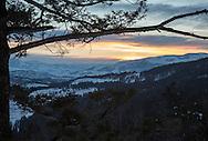 View of Lamar Valley at dawn, Yellowstone National Park
